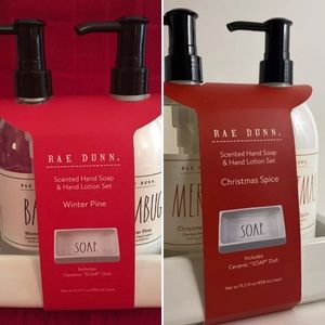 Rae Dunn Set of 2 Hand Soap & 2 Lotion